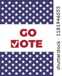 go vote. voting concept... | Shutterstock .eps vector #1181946055