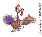 thanksgiving cartoon turkey...   Shutterstock .eps vector #1181946082