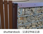 gabion. close up of a detail of ... | Shutterstock . vector #1181946118