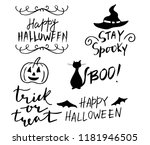 happy halloween. hand drawn... | Shutterstock .eps vector #1181946505