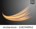 abstract gold wavy line of... | Shutterstock .eps vector #1181948962