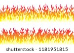 cartoon fire flame frame... | Shutterstock .eps vector #1181951815