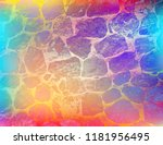 grunge style colorful paint... | Shutterstock .eps vector #1181956495