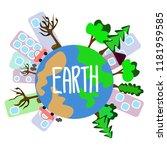 earth environment eps10  vector | Shutterstock .eps vector #1181959585