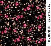 little floral seamless pattern... | Shutterstock .eps vector #1181963362