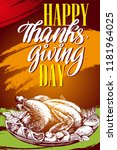 thanksgiving day  holiday... | Shutterstock .eps vector #1181964025