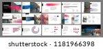 presentation template. gradient ... | Shutterstock .eps vector #1181966398