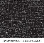 math vector seamless pattern... | Shutterstock .eps vector #1181966665