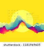 abstract wavy background with... | Shutterstock .eps vector #1181969605