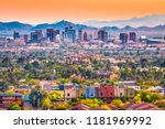 phoenix  arizona  usa downtown... | Shutterstock . vector #1181969992