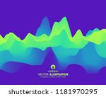 abstract wavy background with... | Shutterstock .eps vector #1181970295