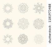 vector set of sunburst... | Shutterstock .eps vector #1181972488