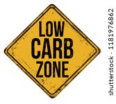 low carb zone vintage rusty... | Shutterstock .eps vector #1181976862