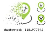 cow location icon in dissolved  ... | Shutterstock .eps vector #1181977942