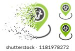 cow location icon in dissolved  ... | Shutterstock .eps vector #1181978272