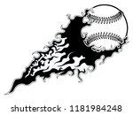 baseball ball with an effect... | Shutterstock .eps vector #1181984248
