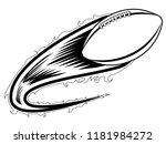 football ball with an effect... | Shutterstock .eps vector #1181984272