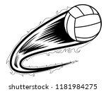 volleyball ball with an effect... | Shutterstock .eps vector #1181984275