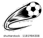 soccer ball with an effect icon.... | Shutterstock .eps vector #1181984308