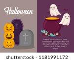 halloween celebration design | Shutterstock .eps vector #1181991172