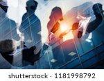 handshaking business person in... | Shutterstock . vector #1181998792