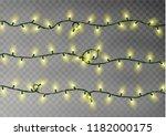 christmas color lights string.... | Shutterstock .eps vector #1182000175