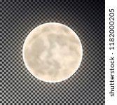 full white moon isolated. dark... | Shutterstock .eps vector #1182000205