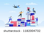 online education  path to... | Shutterstock .eps vector #1182004732