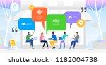 social networking concept.... | Shutterstock .eps vector #1182004738
