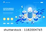 cryptocurrency and blockchain... | Shutterstock .eps vector #1182004765