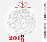 merry christmas and happy new... | Shutterstock .eps vector #1182010228