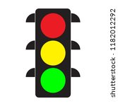 traffic light. red  yellow and... | Shutterstock .eps vector #1182012292