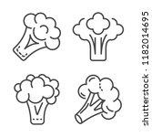 broccoli cabbage icon set.... | Shutterstock .eps vector #1182014695