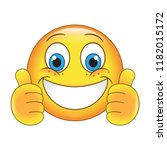emoji thumbs up face vector...