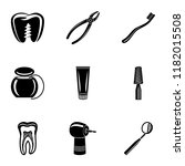 replacement tooth icons set.... | Shutterstock .eps vector #1182015508