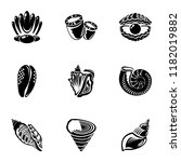 Barnacle Icons Set. Simple Set...