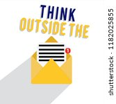 word writing text think outside ... | Shutterstock . vector #1182025855