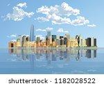 new york skyline. manhattan... | Shutterstock .eps vector #1182028522