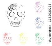 Element Of Human Evil Skull In...
