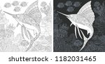 coloring page. coloring book....   Shutterstock .eps vector #1182031465
