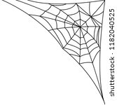 cobweb  spider web. poster in a ... | Shutterstock .eps vector #1182040525