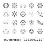 set of firework icons  such as...   Shutterstock .eps vector #1182041212