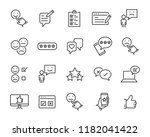 set of feedback line icons ... | Shutterstock .eps vector #1182041422