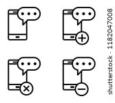 set of sms smartphone icons....
