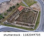 top view of the stone walls of... | Shutterstock . vector #1182049705