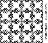 black and white seamless ethnic ... | Shutterstock .eps vector #1182053098