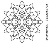 easy mandalas  basic and simple ... | Shutterstock . vector #1182058735