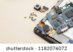 disassembly smartphone and... | Shutterstock . vector #1182076072