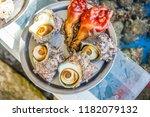 raw shellfish like sea squirts...