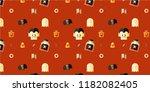 halloween day cute vector... | Shutterstock .eps vector #1182082405